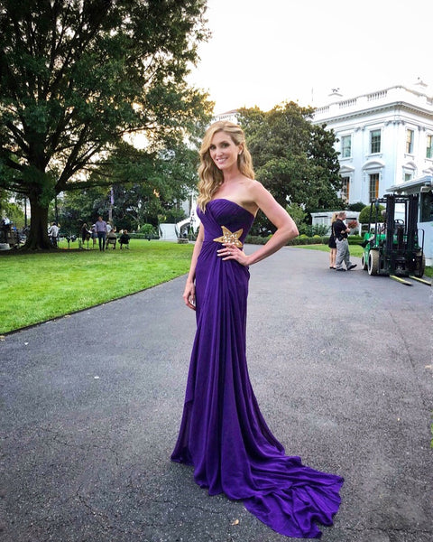Kelly Levesque, Custom Miles David Gown, White House