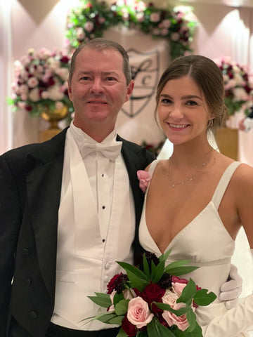 Father and daughter at Lakeside Country Clubs debutante ball