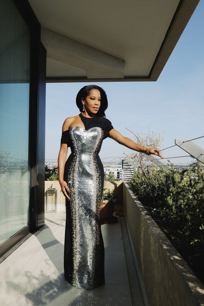 Regina King in Louis Vuitton and Forevermark jewelry