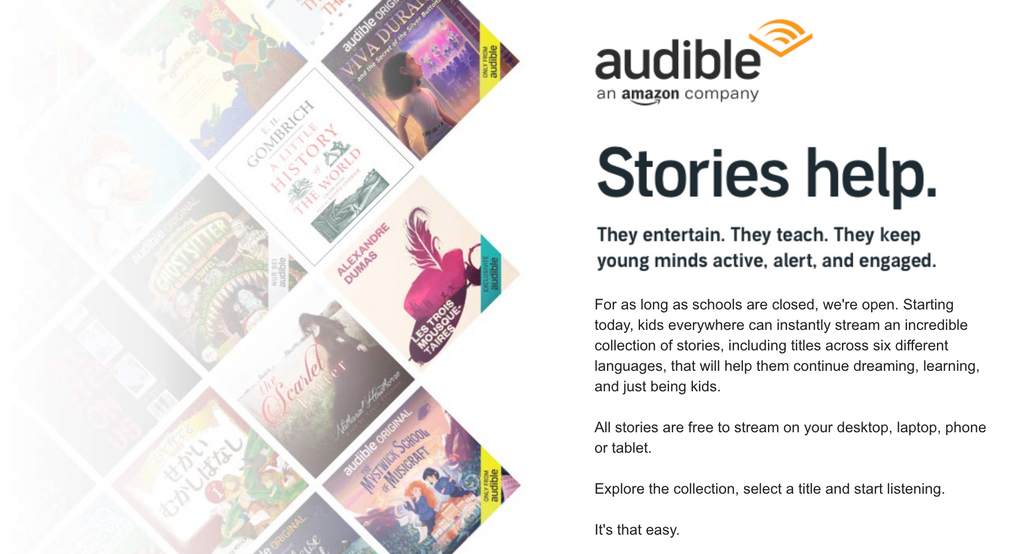 Audible Free stories for kids