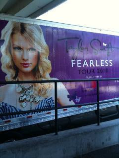 Taylor Swift Tour Bus Fearless Tour David Peck Gown