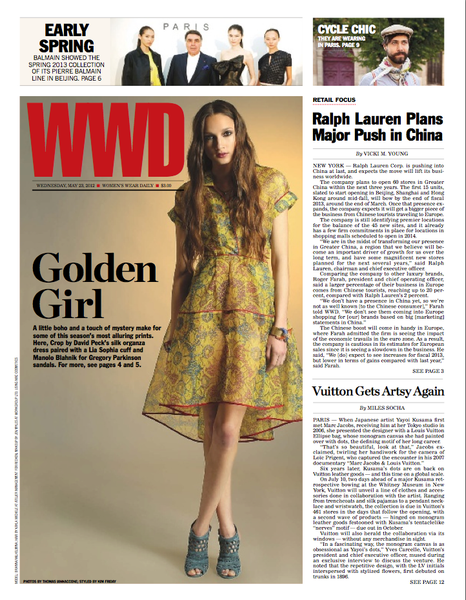 David Peck, WWD Cover