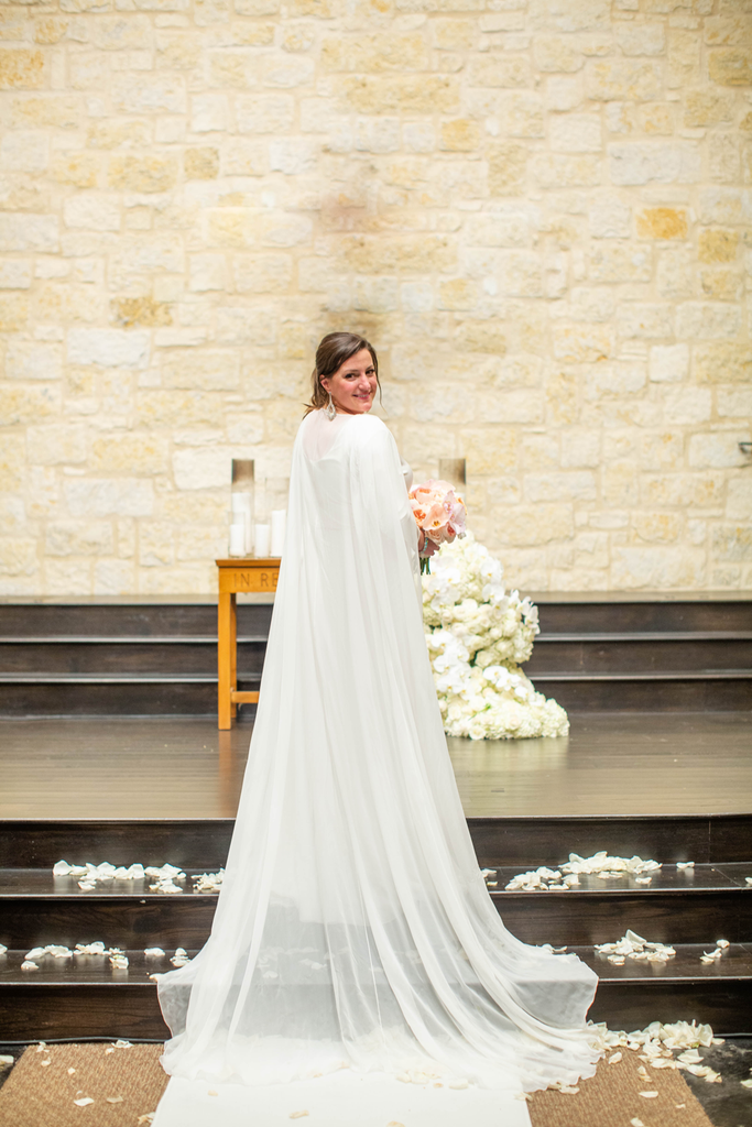 Natalie Pipkin Barr Wedding Austin Texas Custom Wedding Gown David Peck