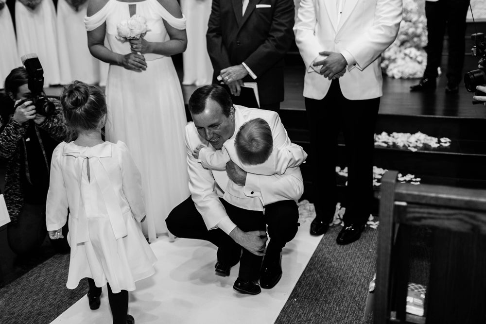 Natalie Pipkin Wedding Austin Texas Custom Wedding Gown David Peck custom flower girl dress