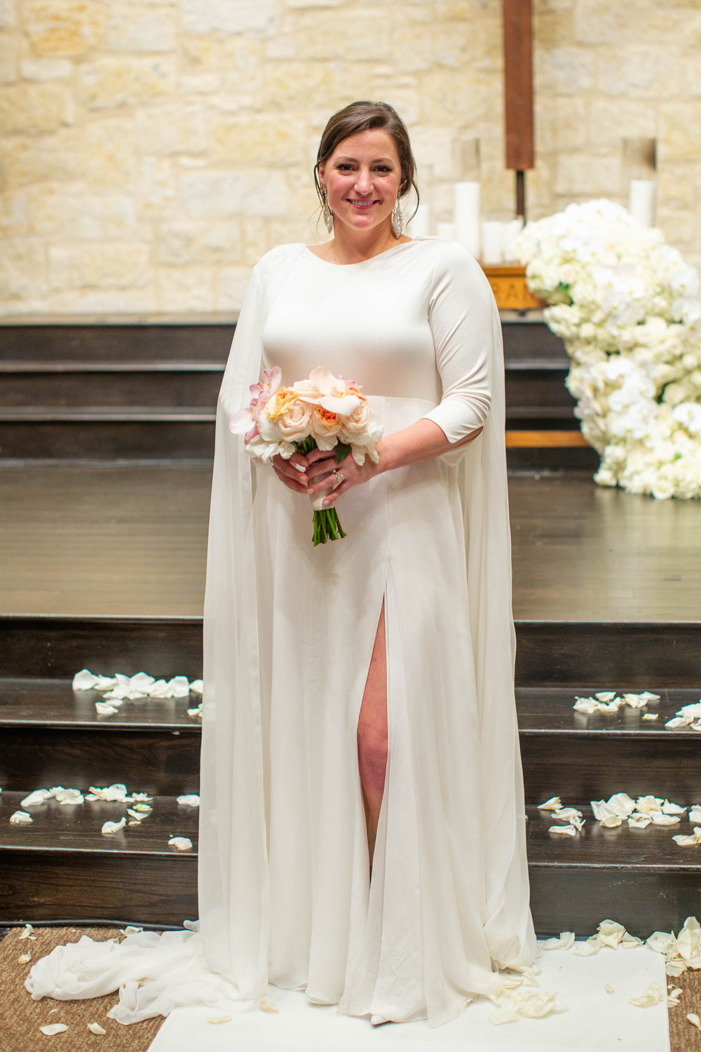 Natalie Pikin Custom Wedding Gown David Peck Houston Texas