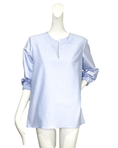 Tibo Top  | Blue Cotton Oxford