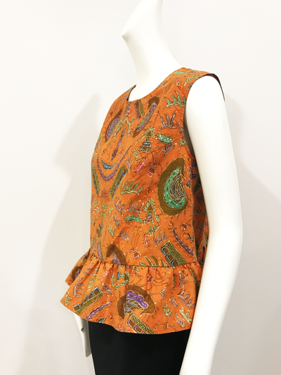 Como Top | Pumpkin Spice Batik Cotton