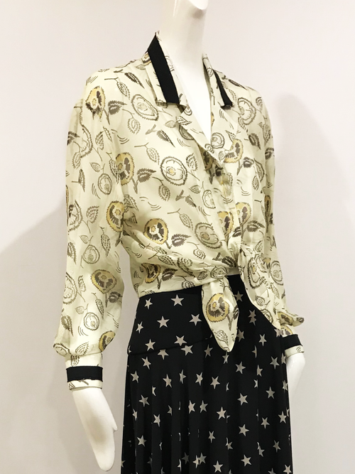 Poi Blouse | Basket of Gold Print