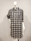 Black and White check cotton voile shirt dress by David Peck