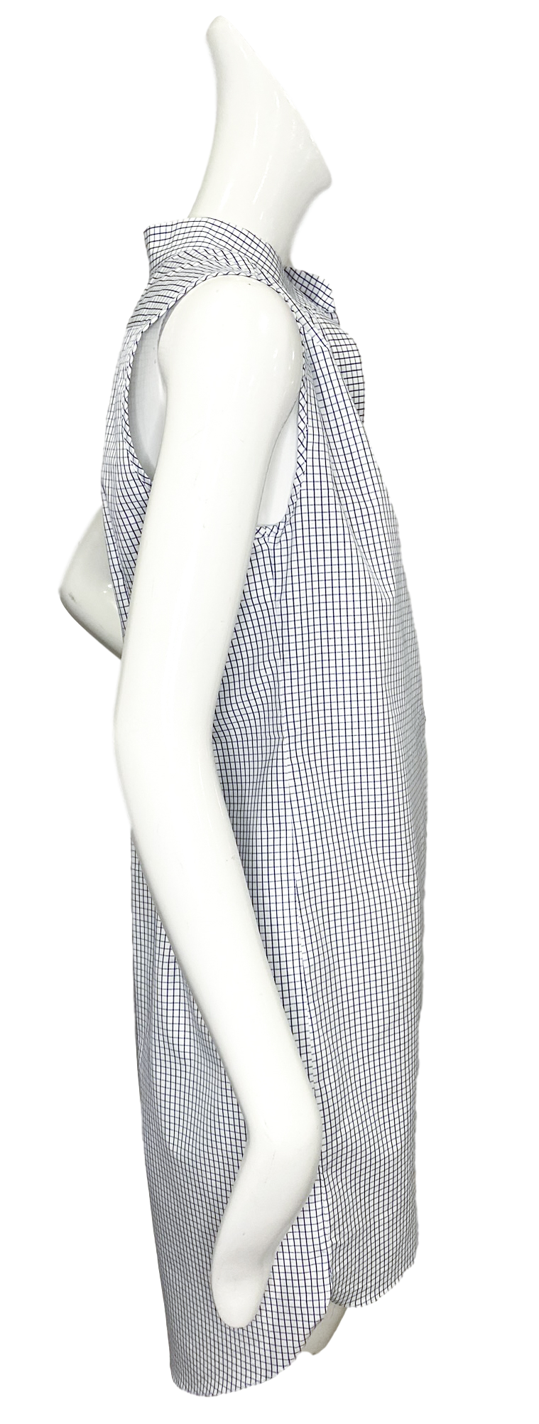 Oslo Dress | Cotton Blue & White Mini Windowpane