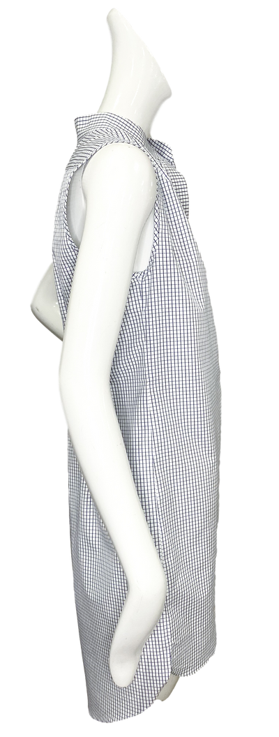 Oslo Dress | Blue & White Mini Windowpane
