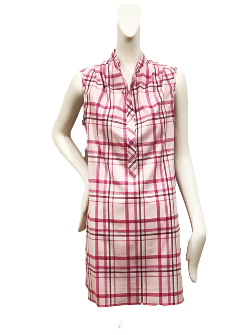 Oslo Dress | Pink Plaid