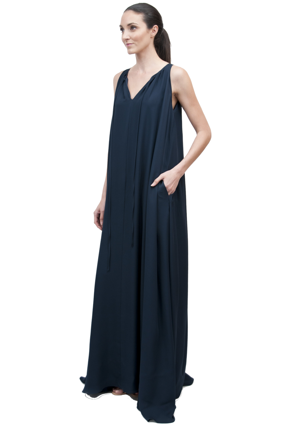 Quintana Gown | Silk Double Georgette
