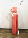 Evangeline Maxi Dress | Coral Leaves