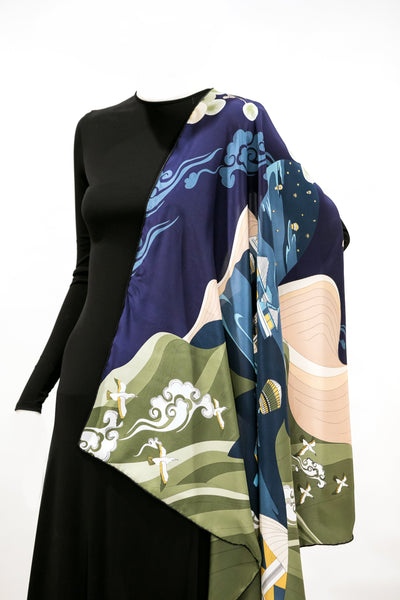 "36"" Silk Square Scarf 