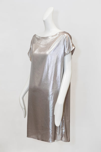 Swift Dress | Champagne Lamé