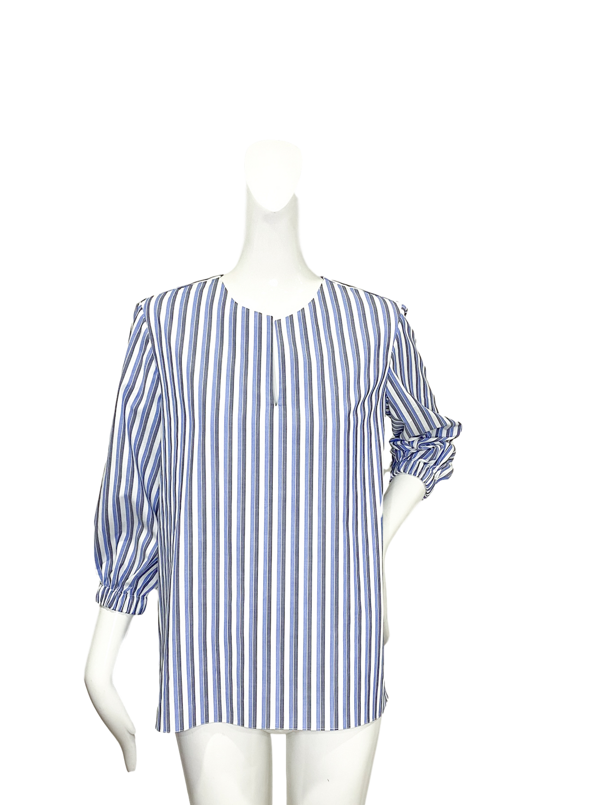 Tibo Top  | Gray & Blue Stripe
