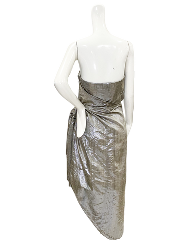 Cannes Dress | Metallic Taffeta Lamé
