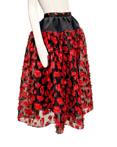 Holland Skirt | Red Eyelash Organza