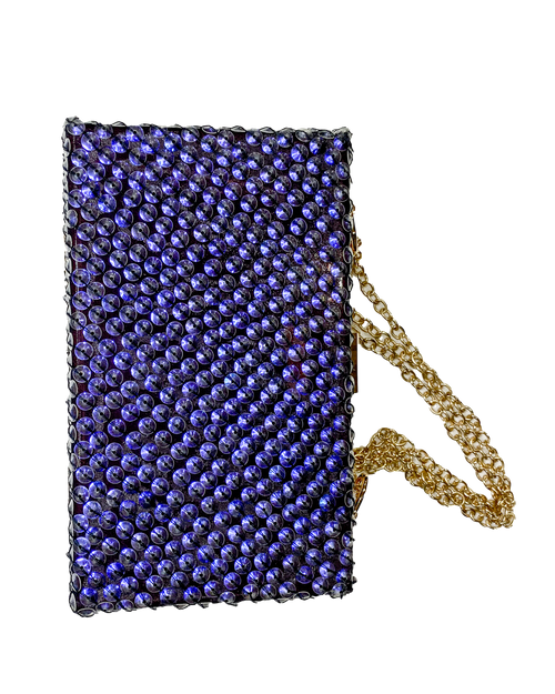 Clutch | Purple Sequins