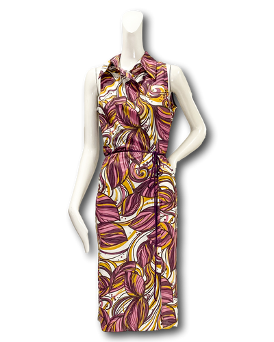 Domingo Dress | Purple Leaf