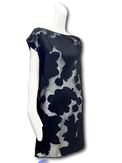 Swift Dress | Black Floral Devoré