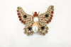 David Peck Butterfly Lapel Pins and Crystal Brooches