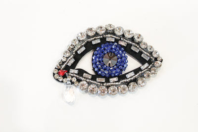 David Peck Evil Eye Lapel Pins and Crystal Brooches