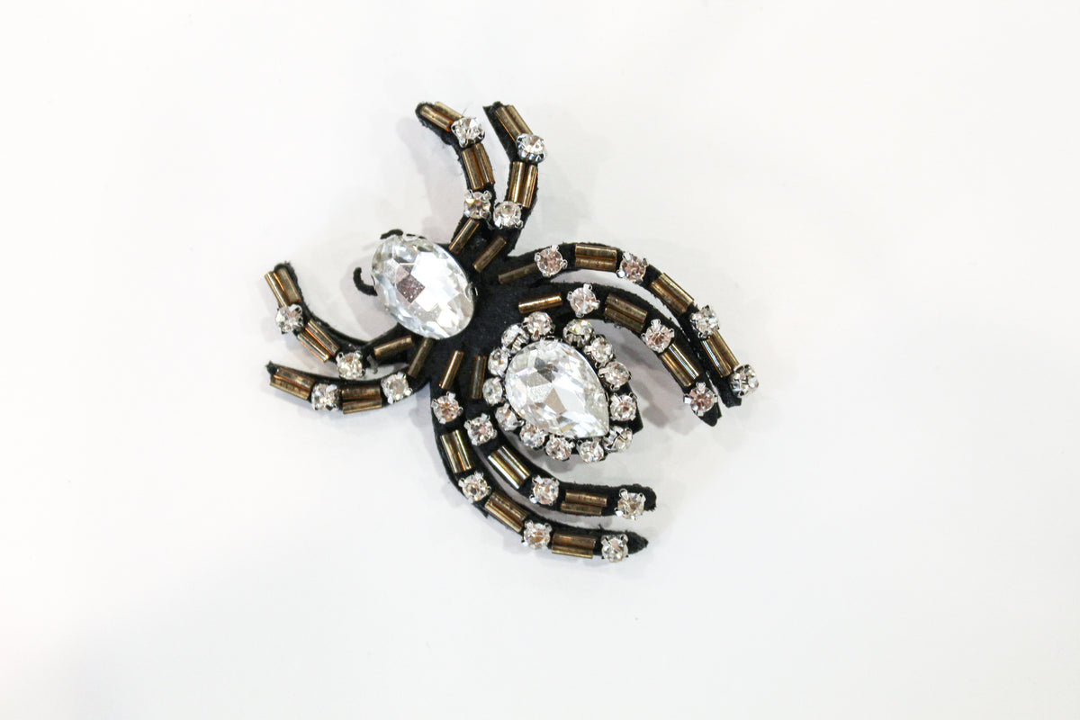David Peck Spider Lapel Pins and Crystal Brooches