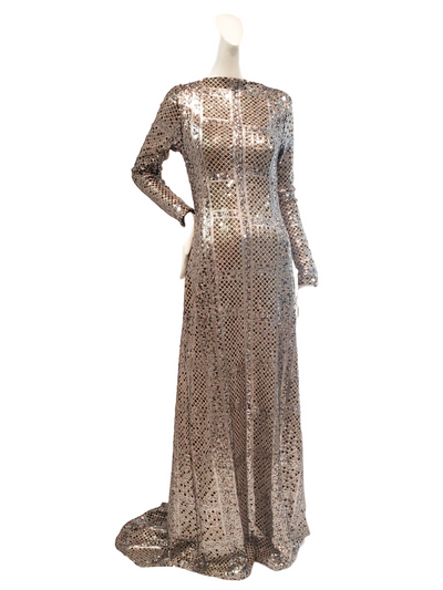 Nixon Gown | Sequined Chainmail