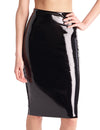 Faux Patent Leather Midi Skirt | By Commando