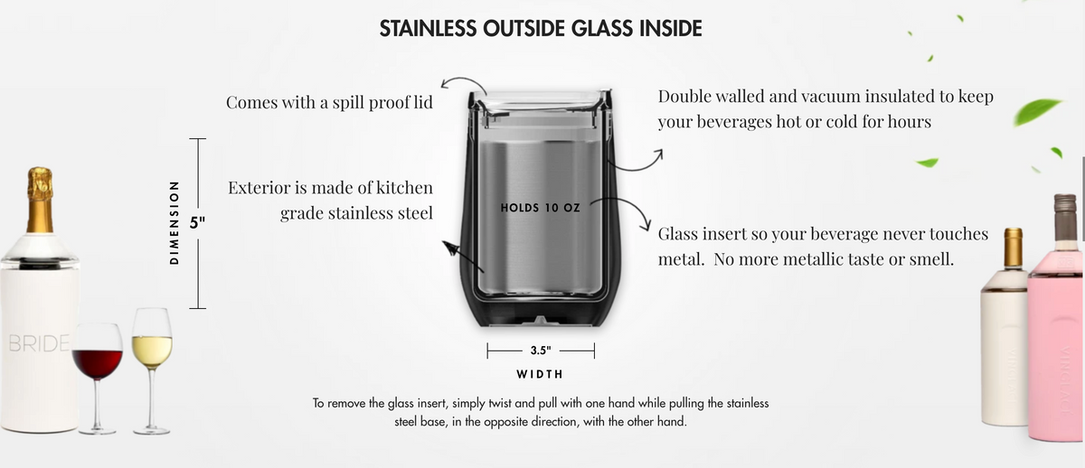 Vinglacé Stemless Wine Glass