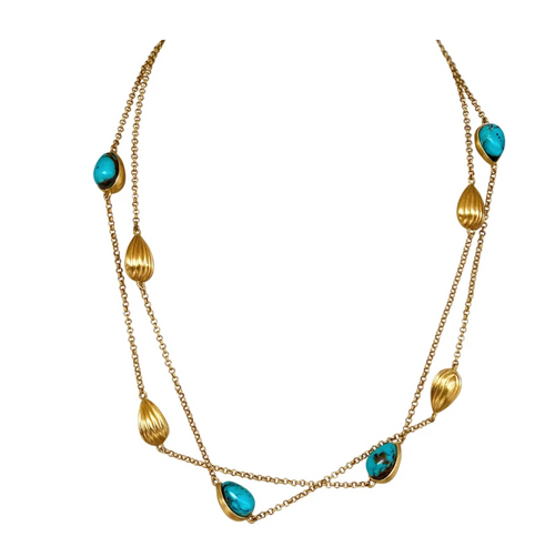 Luxe Layering Necklace | Turquoise