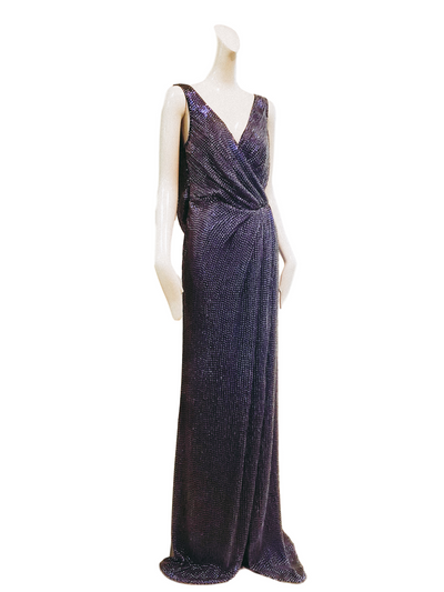 Sydney Gown | Purple Paillettes