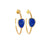 Hoop Earrings | Lapis By Christina Greene