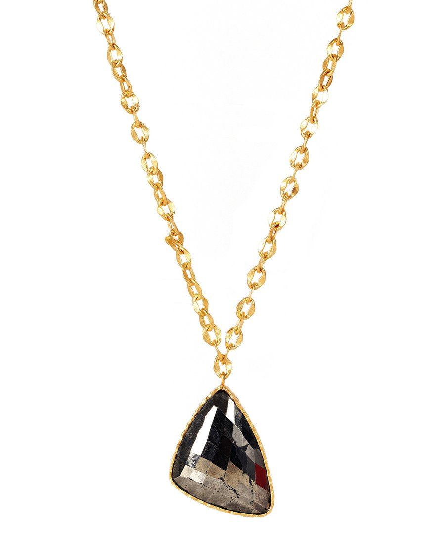 Long Drop Necklace | Pyrite by Christina Greene