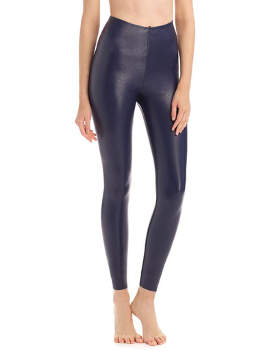 Commando Navy faux leather legging