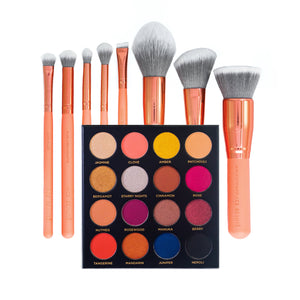 Quintessential Palette & 8 Piece Brush Set Bundle