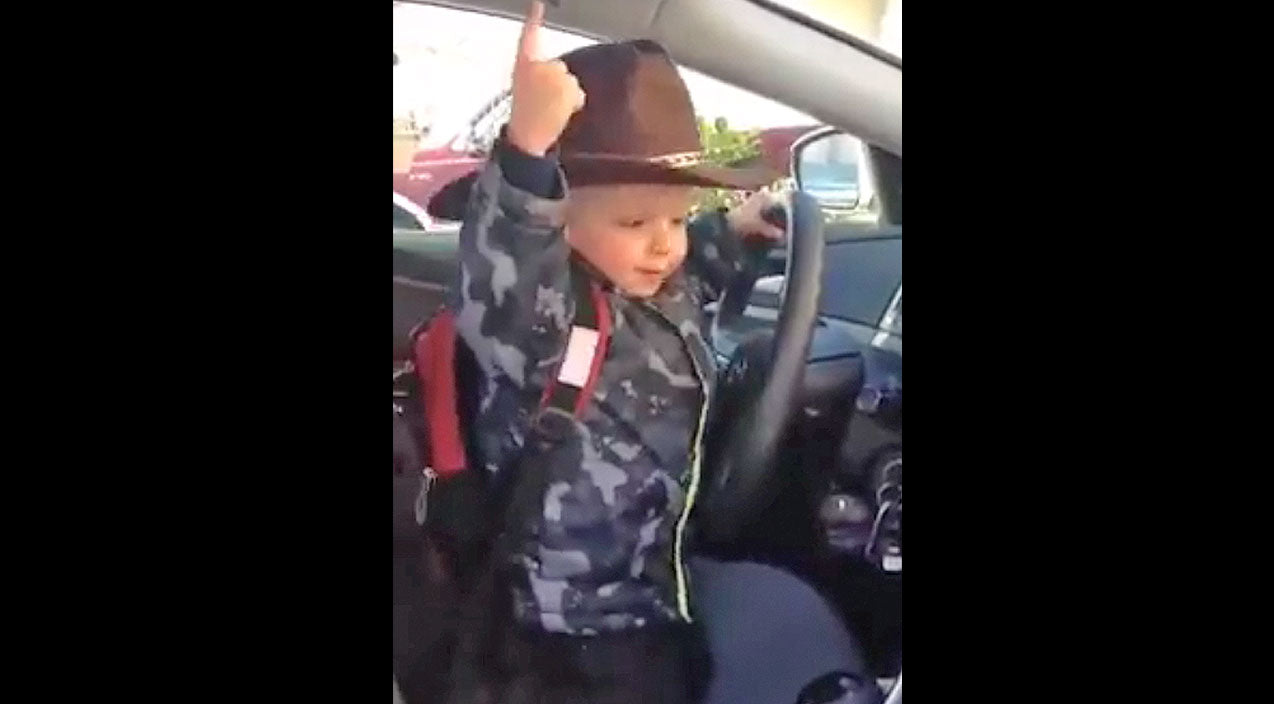 Little Cowboy's Reaction When His Favorite Country Song Plays On The Radio Is Priceless | Country Music Videos