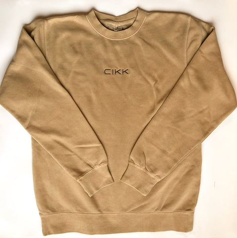 Embroidered Crewneck | Sand