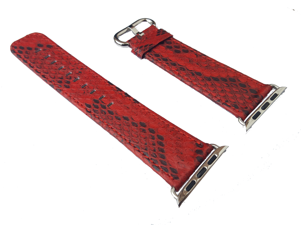 designer brand luxury python snakeskin leather Apple Watch band strap 42mm 38mm is great for the iWatch