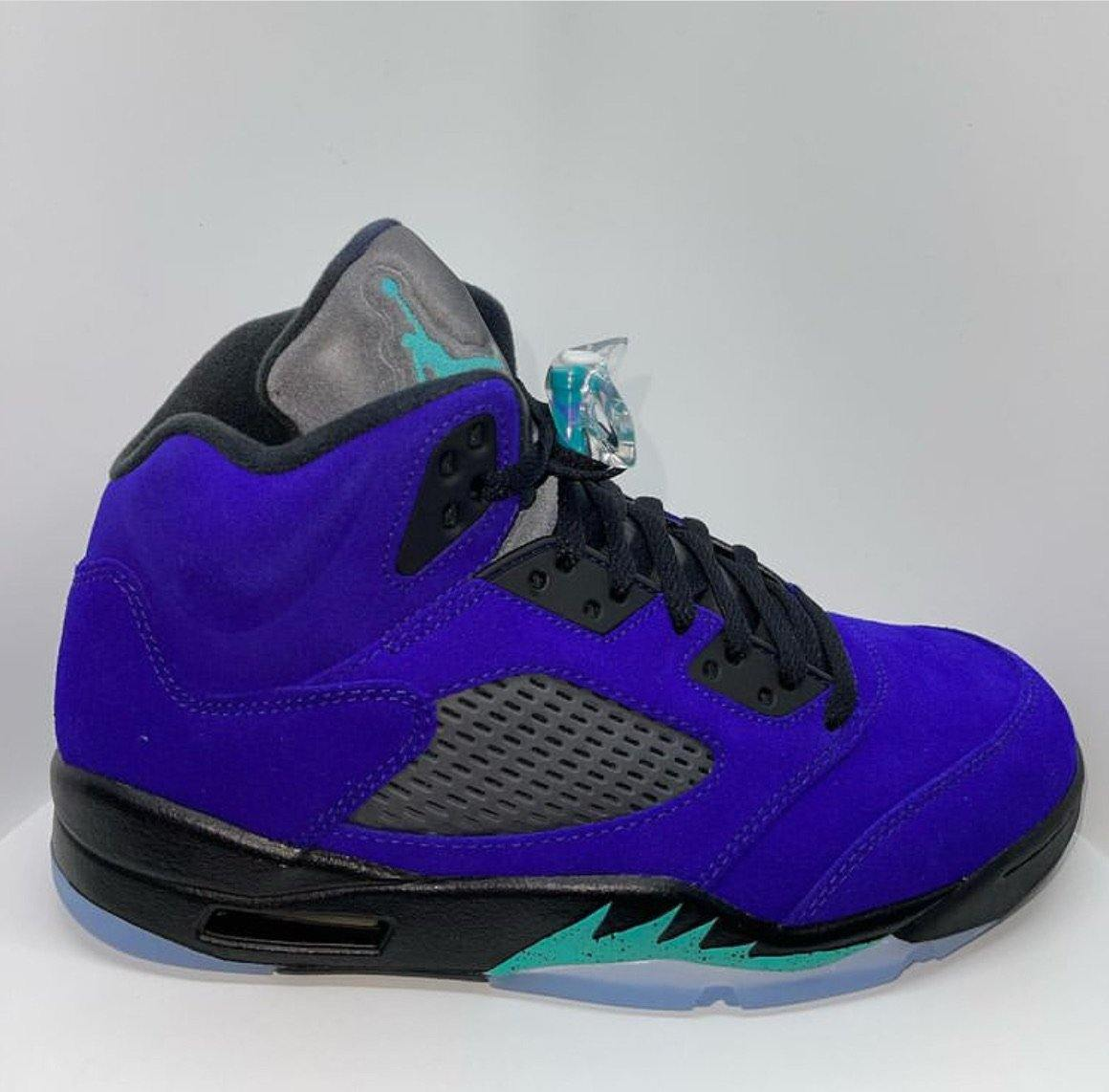 Air Jordan Retro 5s reverse Grape - Exclusive Shoes