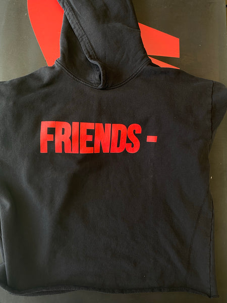 V Lone Friends Hoodie Blk/Red