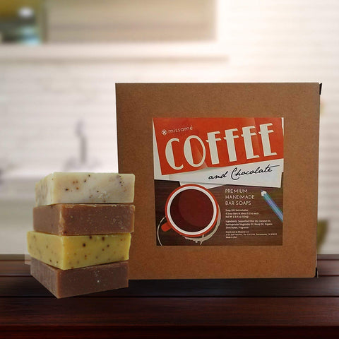 Coffee And Chocolate Scented Handmade Bar Soap Gift Set