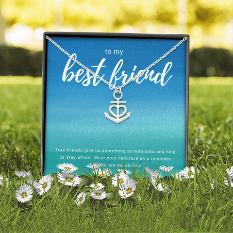 Anchor in the Sea Best Friend Necklace