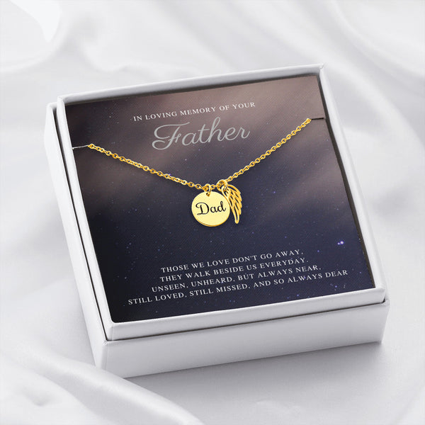 Up In The Starry Sky In Memory Of Your Father Necklace