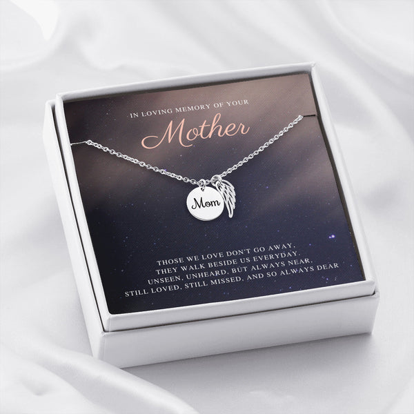 Up In The Starry Sky In Memory Of Your Mother Necklace