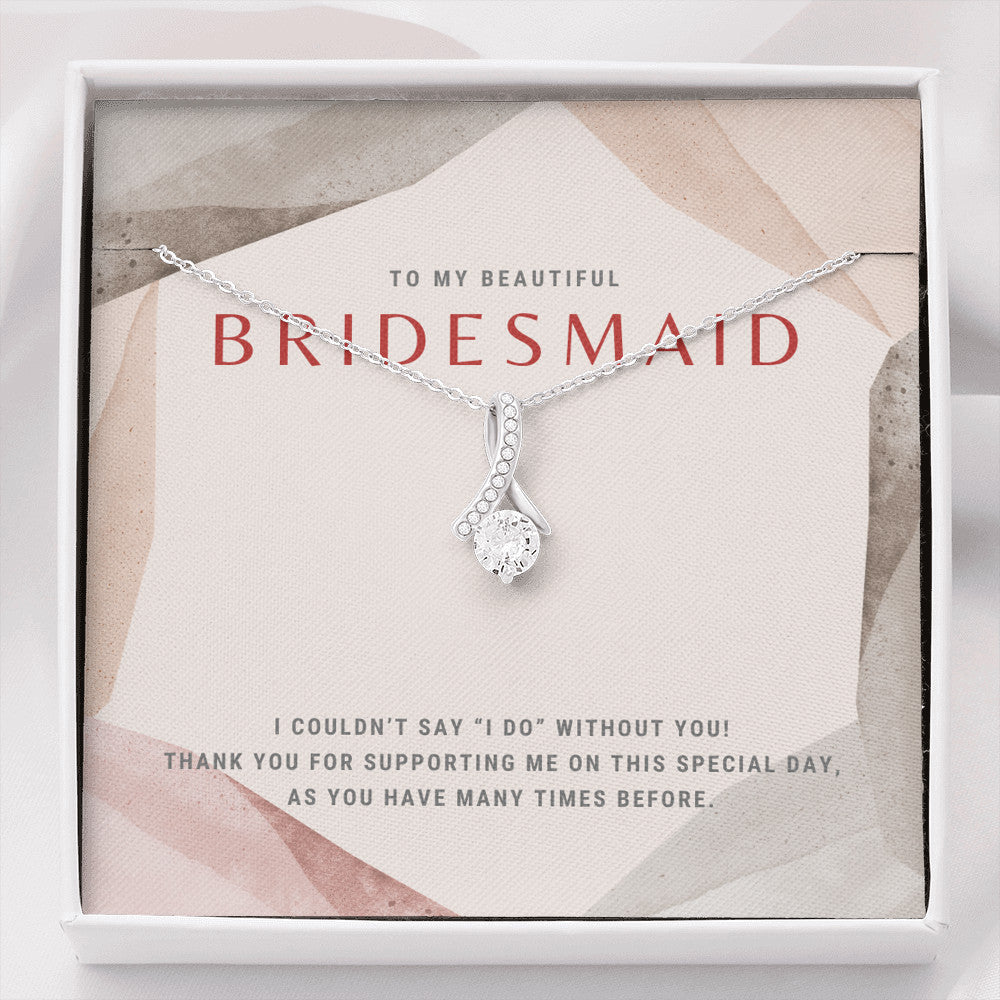 High Fashion Bridesmaid Ribbon Necklace