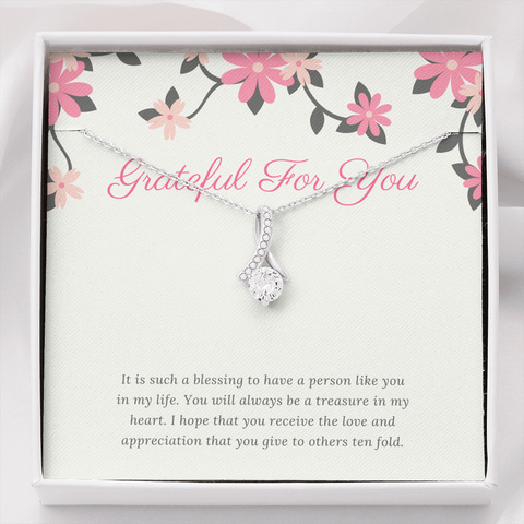 Grateful For You Thank You Necklace