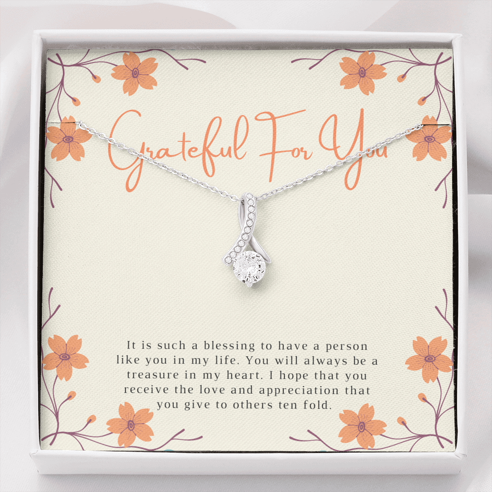 Blessed and Grateful Thank You Necklace